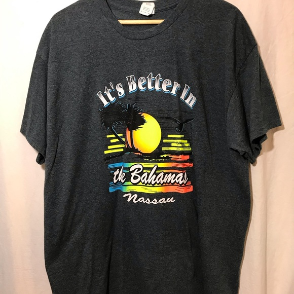 Men's Gildan T-Shirt It's Better in the Bahamas XL
